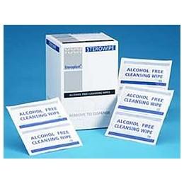 Boîtes de 100 SERVIETTES IMPREGNEES / Chlorhexidine 0,02%