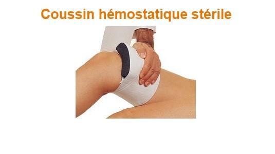 Coussin hémostatique